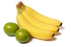 背景香蕉查出的白色 库存照片
