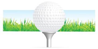 背景高尔夫球 库存例证