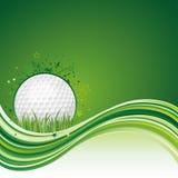 背景高尔夫球 免版税库存图片