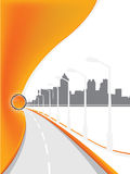 背景高速公路 免版税库存照片