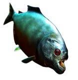 背景鱼查出piranah白色 库存例证