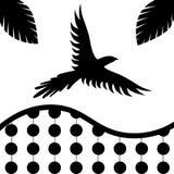 背景鸟幼稚无缝的纹理墙纸 免版税库存图片
