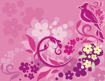 背景鸟花卉系列 免版税库存图片