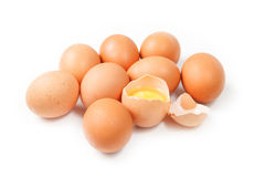 背景鸡蛋查出白色 库存图片