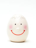 背景鸡蛋查出的壳白色卵黄质 免版税库存照片
