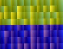 背景黄色紫色方形的样式 免版税库存图片