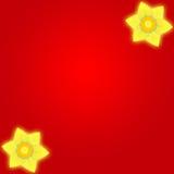 背景黄水仙红色 库存图片