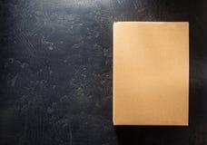 背景黑匣子纸板 免版税库存图片