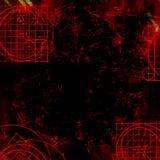 背景黑暗的goth脏的红色 库存图片