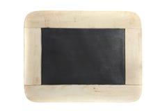 背景黑板查出的空白木头 免版税库存照片