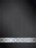 背景黑色中国格子模式银 图库摄影