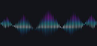 背景黑色例证声音向量挥动白色 技术合理的节奏 皇族释放例证