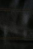 背景黑色关闭皮革构造  库存照片
