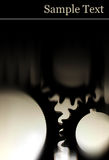 背景黑色复制适应空间 库存图片