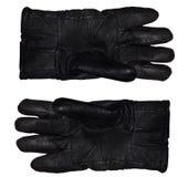 背景黑色手套查出空白皮革对象的影子 免版税库存照片