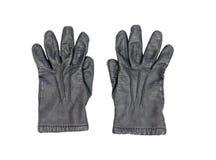 背景黑色手套皮革白色 免版税库存照片