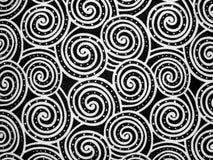 背景黑色漩涡白色 免版税库存图片