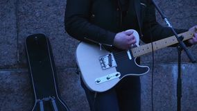 背景黑色火热的吉他音乐岩石 影视素材