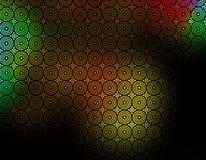 背景黑色绿色被仿造的红色墙纸黄色 免版税库存图片