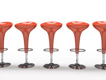 背景黑色自助餐厅椅子查出的红色时髦 免版税图库摄影