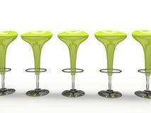 背景黑色自助餐厅椅子绿色查出的时髦 图库摄影