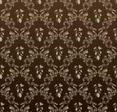 背景黑色葡萄无缝的葡萄酒墙纸 免版税库存照片