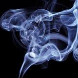 背景黑色蓝色烟 库存图片