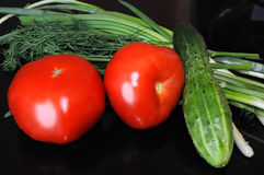 背景黑色蔬菜 免版税图库摄影