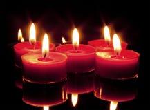 背景黑色蜡烛 免版税库存图片