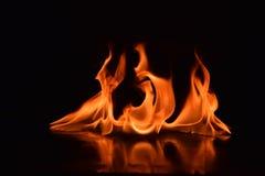 背景黑色详细资料火软绵绵地发火焰好高亮度显示垂直 免版税库存照片