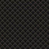 背景黑色豪华 黑暗的几何正方形样式纹理 免版税库存图片
