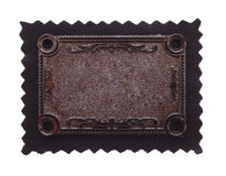 背景黑色雕刻的铜织品 库存图片