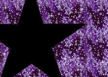 背景黑色紫色星形 免版税库存照片