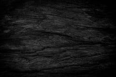背景黑色grunge纹理 在困厄的木难看的东西纹理 免版税库存图片