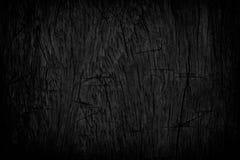 背景黑色grunge纹理 在困厄的木难看的东西纹理 免版税库存照片