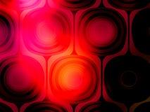 背景黑色mod红色充满活力的墙纸 向量例证