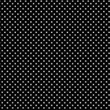 背景黑色polkadots小的白色 库存照片