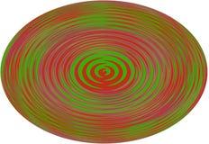 背景,例证与一条波浪线的球形在白色背景! 免版税库存图片