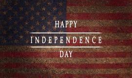 背景,卡片国旗美利坚合众国题字愉快的独立日 库存图片