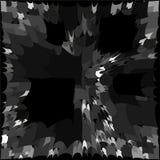 背景,黑和灰色正方形结晶 库存例证