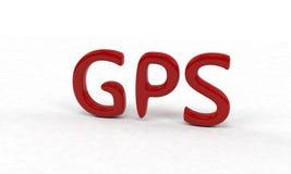 背景, 3d Gps文本  免版税图库摄影