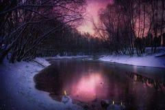 背景--冬天梦想 免版税库存图片