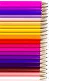 背景水平的铅笔 图库摄影