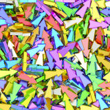 背景组成由许多五颜六色的小箭头 免版税库存图片