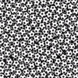 背景组成由许多足球 免版税库存图片