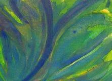 背景-抽象水彩绘画 免版税库存照片
