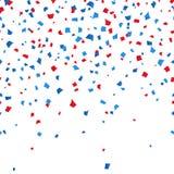 背景7月第4 -独立日庆祝五彩纸屑 传染媒介illusctration 向量例证