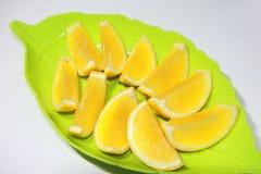 背景水果罐头橙色片式他们使用您 库存图片