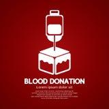 背景医疗的献血 免版税库存图片