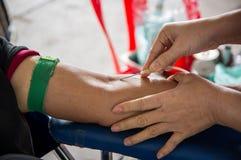 背景医疗的献血 库存图片